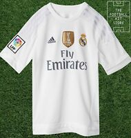 Real Madrid Home Shirt - Official adidas Boys Football Jersey - All Sizes
