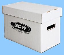 BCW: Storage Boxes w/Lids: COMIC SIZE-SHORT: 10 boxes/CASE-LOT