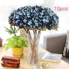 Large 10 PCS  Open Rose Bouquet! Silk Artificial Fake Flowers Bunch UK HOT