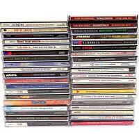 Lot of 38 Movie Soundtrack CDs: Batman, Singles, Evita, Hidalgo, Sopranos, Etc..
