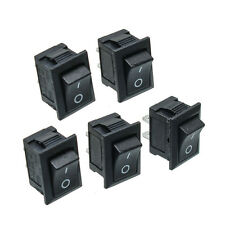 5Pcs Black Push Button Mini Switch 6A-10A 110V 250V KCD1-101 2Pin Snap-in On/Off