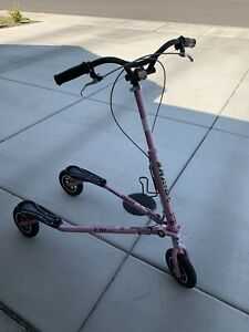 TRIKKE AIR T78AIR CARVING SCOOTER 3 WHEEL FOLDING SCOOTER COOL PINK COLOR