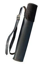 Rückenköcher mittelalterlicher Lederköcher traditioneller Bogenköcher schwarz