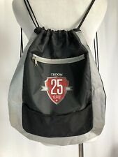 Troon Golf Backpack 25th Anniversary String Book Bag Zipper Pockets Black Silver