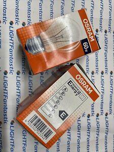 2x 60 Watt ES / E27 Screw In Clear GLS Light Bulb Lamp 60w traditional bulb