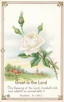 Postcard Great is the Lord