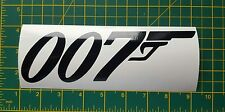 "James bond 007 gun vinyl sticker 8"" wide also available in white"