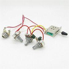 Strat Guitar Wiring Harness Prewired 3x 500k Pots 1 Volume 2 Tone Control Knobs