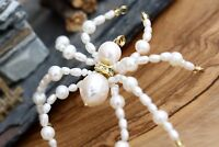 Beaded Spider Bookmark - Pearl Spider