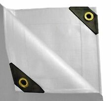 Heavy Duty Canopy Tarp 12 mil 3-Triple Coated Tent Car Boat Cover - White