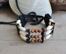 Cherokee made William Lattie Cert Aut Native American Bracelet w/ Picasso Jasper