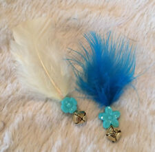 ***FEATHER BELL***  2 pack Cat Toys!!!  Jingle bell w/Flower Bead & Feather