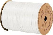 """74900-01 Matte White Wraphia Ribbon 1/4"""" x 100 Yards"""