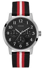 Guess Reloj para Hombre Plata Negro Smart impresionante Regalo Presente Navidad Cumpleaños W0975G1