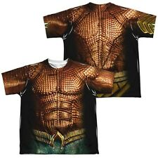Aquaman Movie Double Sided Costume Men's T-Shirt Orange