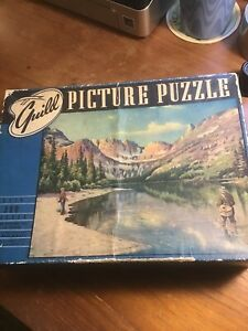 Vintage Whitman Guild Picture Puzzle Series T Lake Josephine