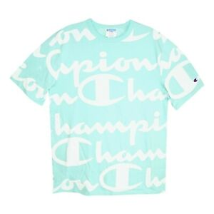 Champion LIFE Men's C logo Patch Green/White T-shirt