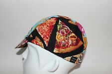 CYCLING CAP PIZZA  & DONUTS  100% COTTON HANDMADE IN USA M L