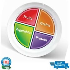 """Choose MyPlate 10"""" Plate for Adults & Teens, Healthy Food and Portion Control"""