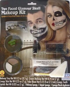 HALLOWEEN MAKEUP & APPLIANCE KIT – 9-PIECE - TWO FACED GLAMOUR SKULL FACE – NIP
