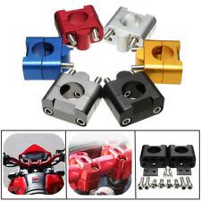 Kit 7/8'' 22mm à 28mm CNC Adaptateur Fixation Support Guidon Aluminium Moto VTT