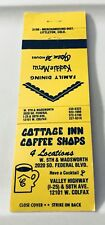 Old Matchbook Cover Cottage Inn Coffee Shops