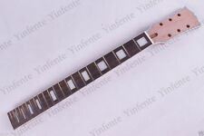 New electric guitar neck 22 fret 24.75 inch unfinished Mahogany Binding #H34