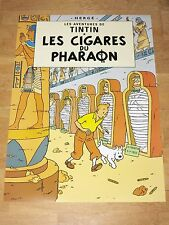 TINTIN POSTER LARGE - LES CIGARES DU PHARAON / PHARAOH - 70 x 50 cm MINT NEW