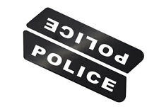 """Police Script"" - Saddlebag Decal Inserts For Harley Police Models 1996-2007"