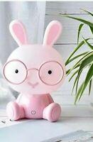 Veilleuse lampe lapin  rose enfant