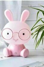 Veilleuse lampe lapin  rose enfant bébé surveillance puériculture chambre enfant