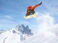 Photograph Sport Motion Shot Snowboard Jump Air Picture Canvas Art Print