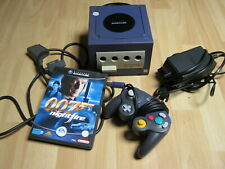 Console de jeu Nintendo Gamecube violette - james bond