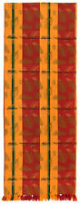 """100% Cotton Red & Yellow 12""""x72"""" Table Runners, Set of 2 - Indian Summer"""