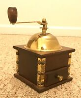 Vintage Coffee Grinder Farmhouse Country Decor Style - Wood and Metal