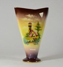 Ceramiche Sesto Fiorentino C.A FELCE retrò hand made H25 decorato aerografo -13Q