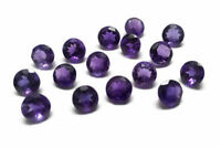 10 Pcs Lot Natural Purple Amethyst 5X5 mm Round Faceted Cut Loose Gemstone