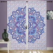 Flower Mandala Wall Hanging Door Window Curtain Drape Valance Purple Color Art
