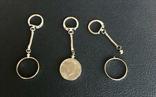 SIX KENNEDY HALF DOLLARS 50 CENT COIN HOLDER SCREW TOP KEYCHAINS KEY CHAINS