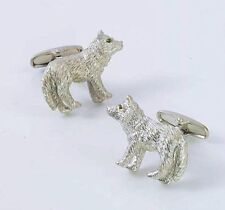Silver Wolf Cufflinks  NEW cuff links  in Gift BOX