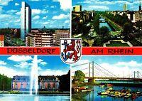 Düsseldorf am Rhein , Ansichtskarte ,1970 gelaufen