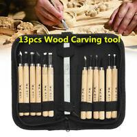 12Pcs Holzschnitzerei Meißel Carver Holzbearbeitung Holzschnitt Hand Werkzeug