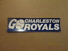 Charleston Royals Vintage Defunct 1980's Bumper Sticker
