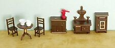 Dollhouse Miniature 1:48 Scale Plastic Kitchen Furniture Set