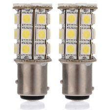 2X 1157 White BAY15D P21/5W 27SMD 5050 Car 12V LED Tail Brake Light Bulb Lamp