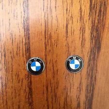 2x BMW KEY FOB BADGE LOGO emblème de Remplacement Autocollant diamètre 11 mm-Vendeur Britannique