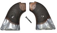 """""""Silverado"""" Heritage Arms Rough Rider 6 & 9 Shot Grips Rosewood Mother of Pearl"""