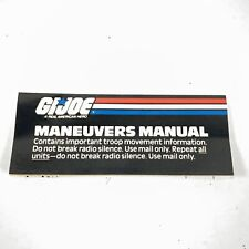 1987 GI Joe MANEUVERS MANUAL Insert Starduster PPP Mail Away APC Offer JTC P565