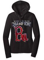 Ladies BOSTON RED SOX World Series Championship WOMEN'S Zip Up Hoodie Zipper