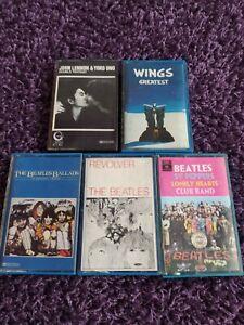 Lotto cassette mc k7 the Beatles Wings John Lennon